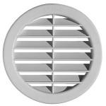 Kruhová mřížka s klapkou pr. 106 mm plastová