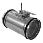 Těsná uzavírací klapka KRT-K s kovovým ovládáním průměr 100 mm