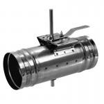Kruhová škrtící klapka KSK s kovovým ovládáním průměr 100 mm